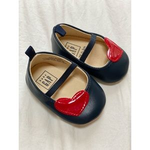 Baby GAP || Navy with Heart Baby Walker Shoes